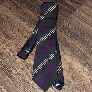 Authentic Burberry 100% Silk Striped Tie